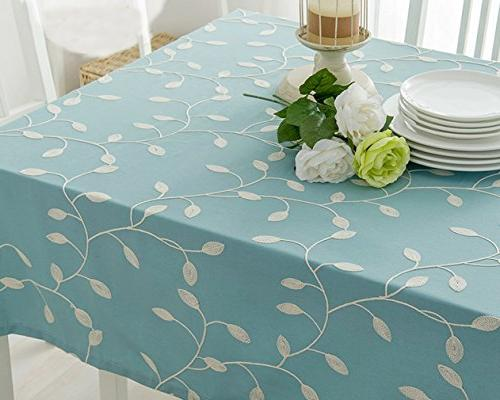 "Tina's Cotton Tablecloth Leaf for 39""x55"""