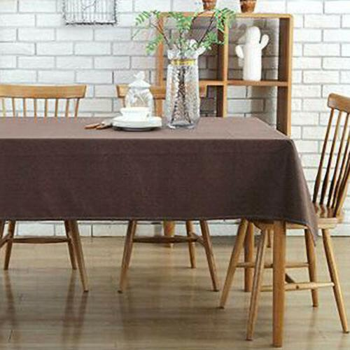 Cotton Rectangular Dining Table Cover Table