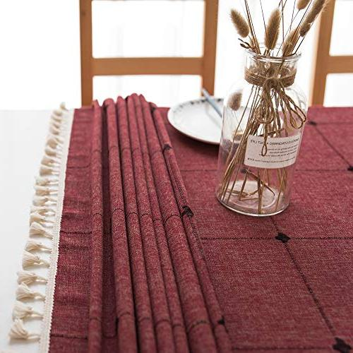 Lamberia Cotton with for Tables Cover Tabletop Decoration