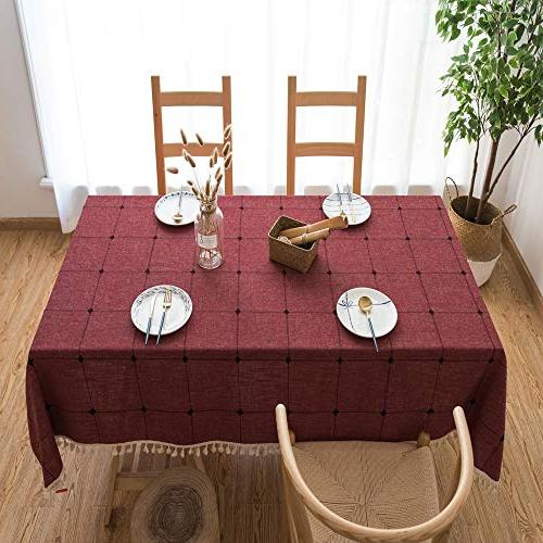 Lamberia Linen Tablecloths with Tables Table Cover for Kitchen