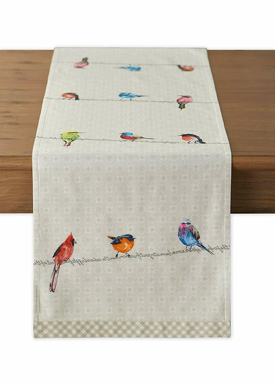 Cotton Table Runners Dresser Scarf On Wire