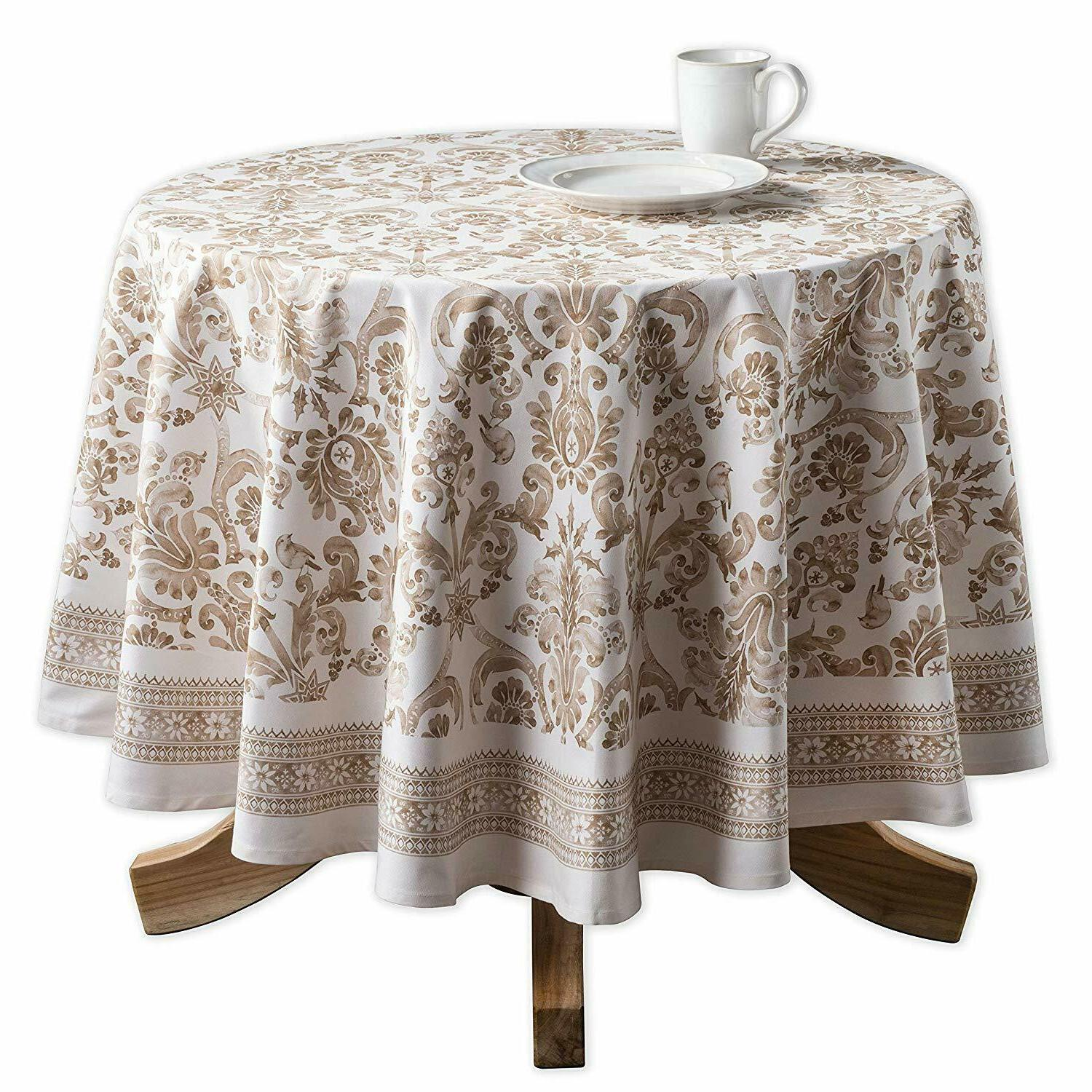 Cotton Cover Beige Round Rectangle