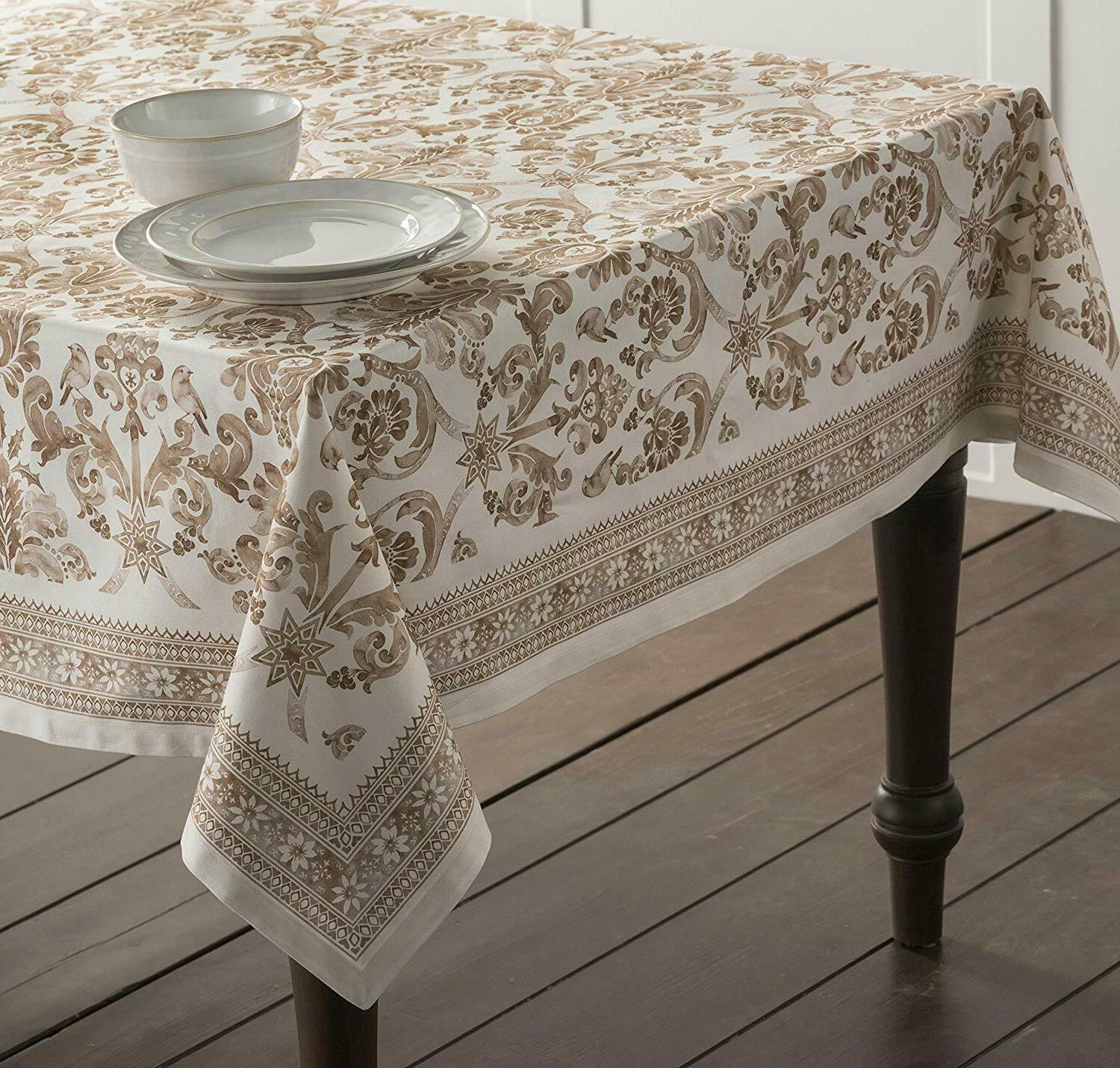 Cotton Tablecloth Table Cloth Cover Round Square Rectangle Linens