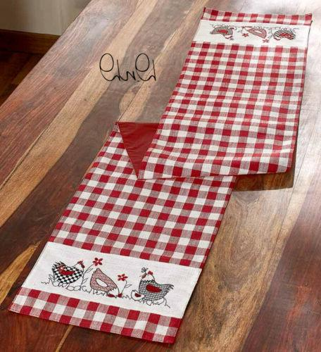 Country Chicken Red White Checkered Farmhouse