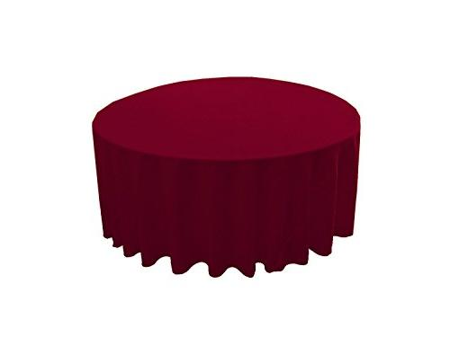 cranberry round polyester tablecloth 120