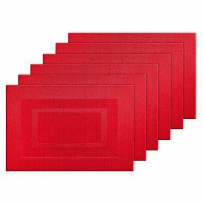 doubleframe pvc placemat set of 6