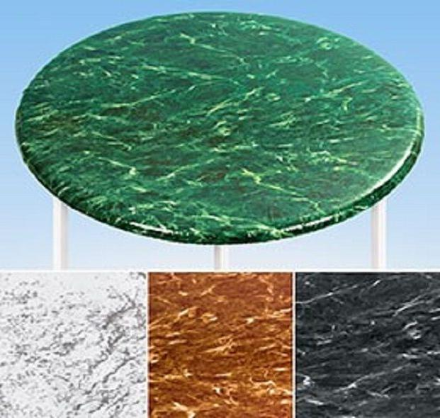 Elasticized Marble Fitted Cover Fabric Back