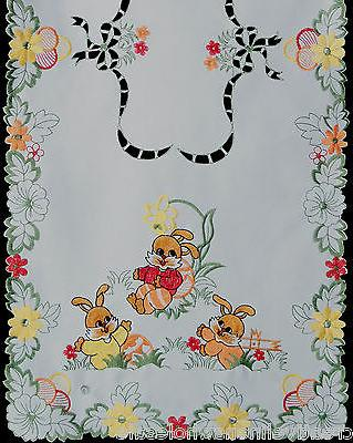 embroidered easter bunny egg floral placemat table