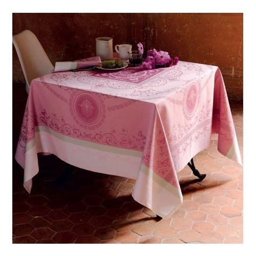 "Garnier-Thiebaut Tablecloth, 69"" 120"", two-ply twisted cotton, in France"
