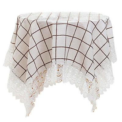 european style fabrics grids lace tablecloth table