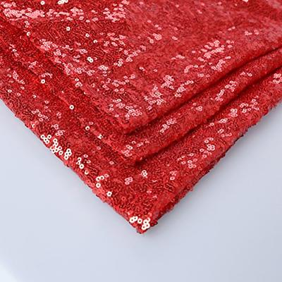 """GFCC Event Sequin Table Cloth Red 60""""x126"""" Sparkly Table Cover for"""