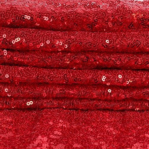 """GFCC Event Sequin Cloth 60""""x126"""" Table Cover Glitter Overlay for Baby"""