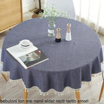 Fashion 150cm Round Table Cloth Cotton Blend Household Garde