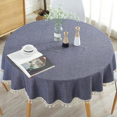 Fashion Round Table Cloth Blend Garden Dining