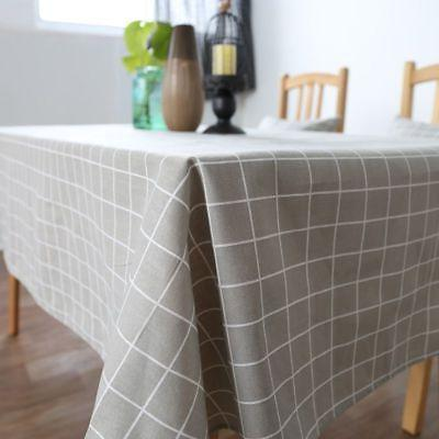 Fashion Home Kitchen Room Cotton Linen Table Cloth Spread new