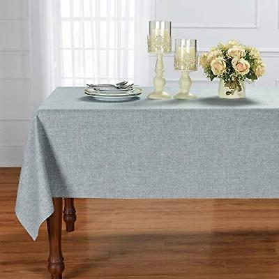 HOMCHIC Faux Table Cloth Spillproof Wrin...