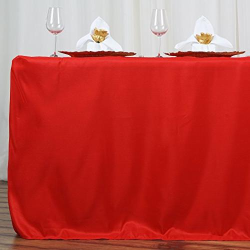 fitted polyester tablecloth