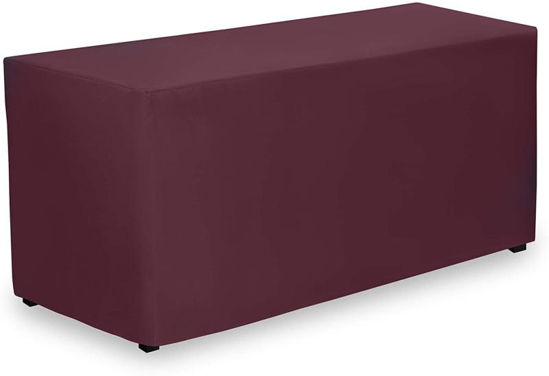 fitted tablecloth 72 x 30 inch burgundy
