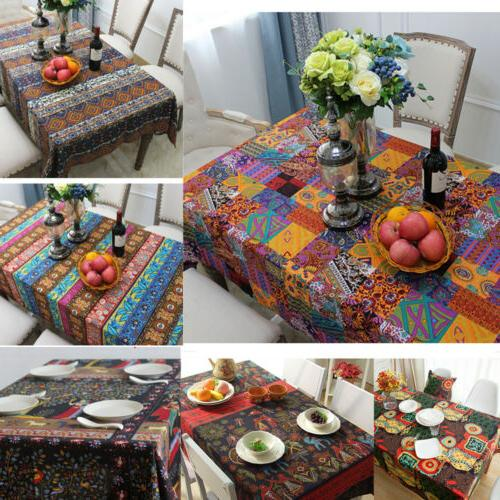 Fl Animal Boho Table Cloth Covers Dining Tables Tablecloth Square Rectangle
