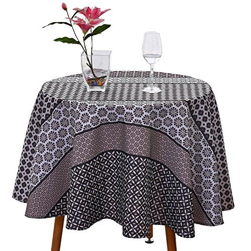 Brilliant Jiater Floral Printed Table Cloth Spillproof Polyester Fabric Bralicious Painted Fabric Chair Ideas Braliciousco