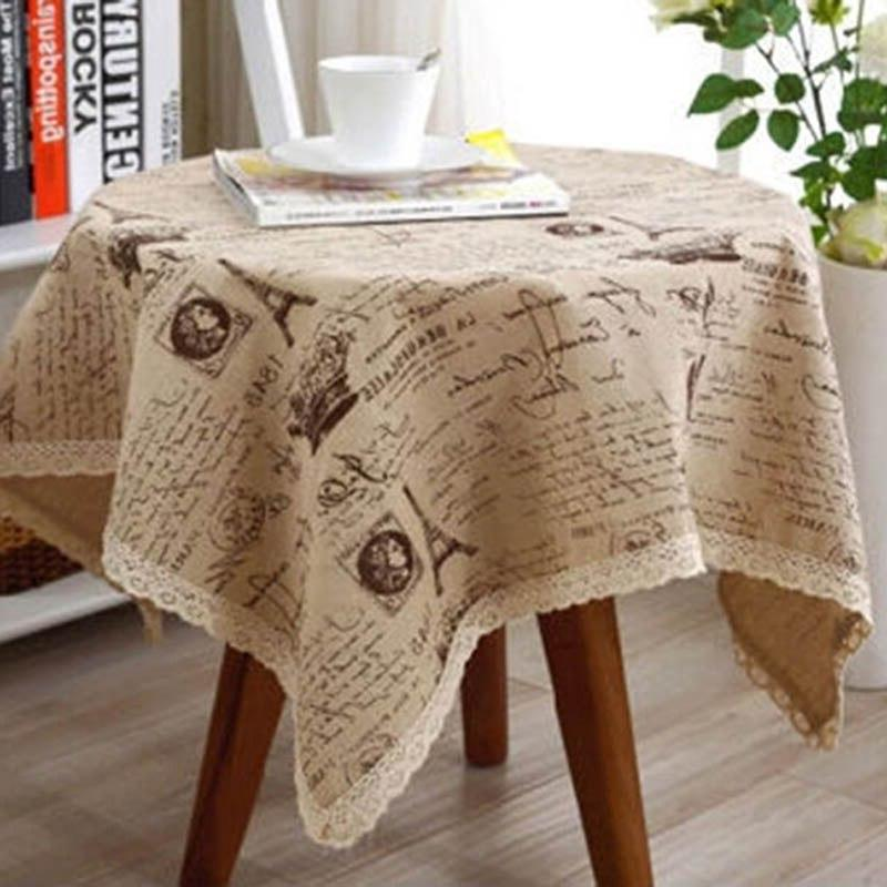 <font><b>Table</b></font> Cover Tower Printed Cotton Lace Tablecloth for <font><b>Kitchen</b></font> Home Best