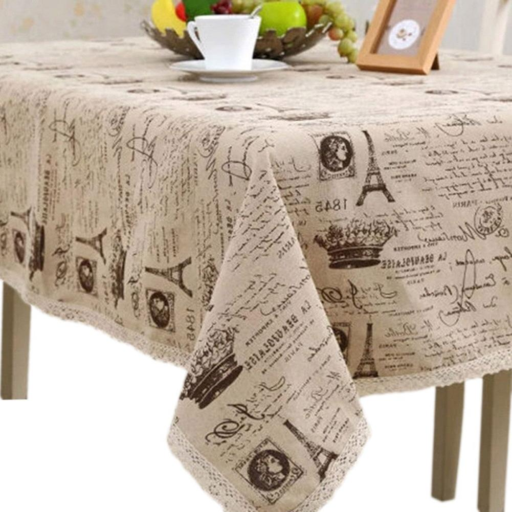 <font><b>Table</b></font> Cover Printed Lace Home Best