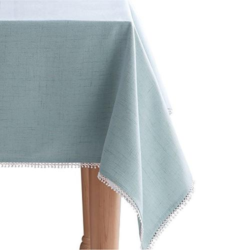 french perle ice blue tablecloth