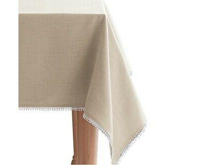 """Lenox French Perle 60"""" x 102"""" Tablecloth"""