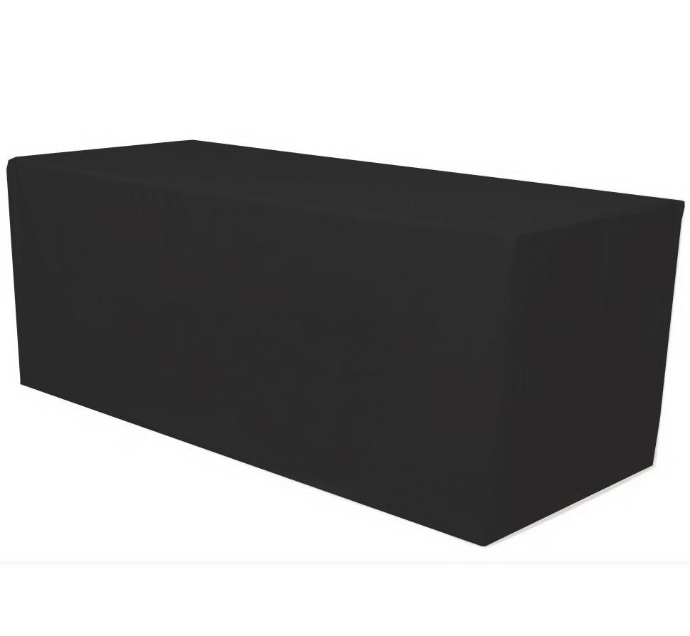 ft fitted polyester tablecloth table