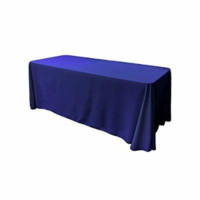 "Gee Di Moda Rectangle Tablecloth - 90 x 132"" Inch - Royal Bl"