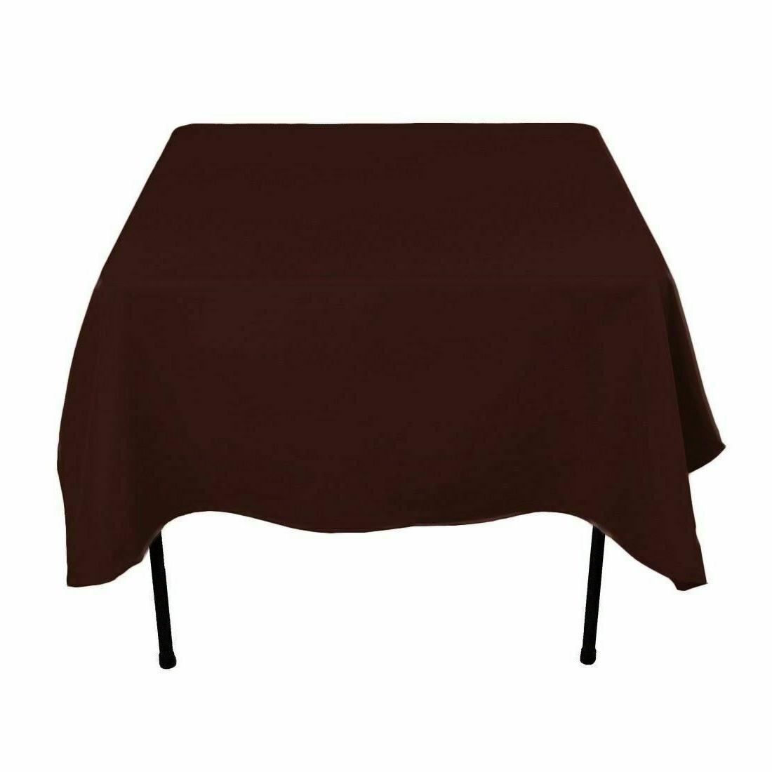 Gee Di Moda Square Tablecloth - 70 x 70 Inch - Chocolate Squ