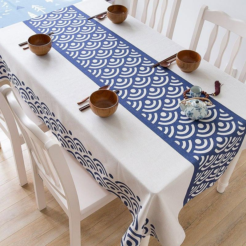 Geometric And Linen Style <font><b>Table</b></font> Mat <font><b>Cloth</b></font> Dustproof <font><b>Cloth</b></font>