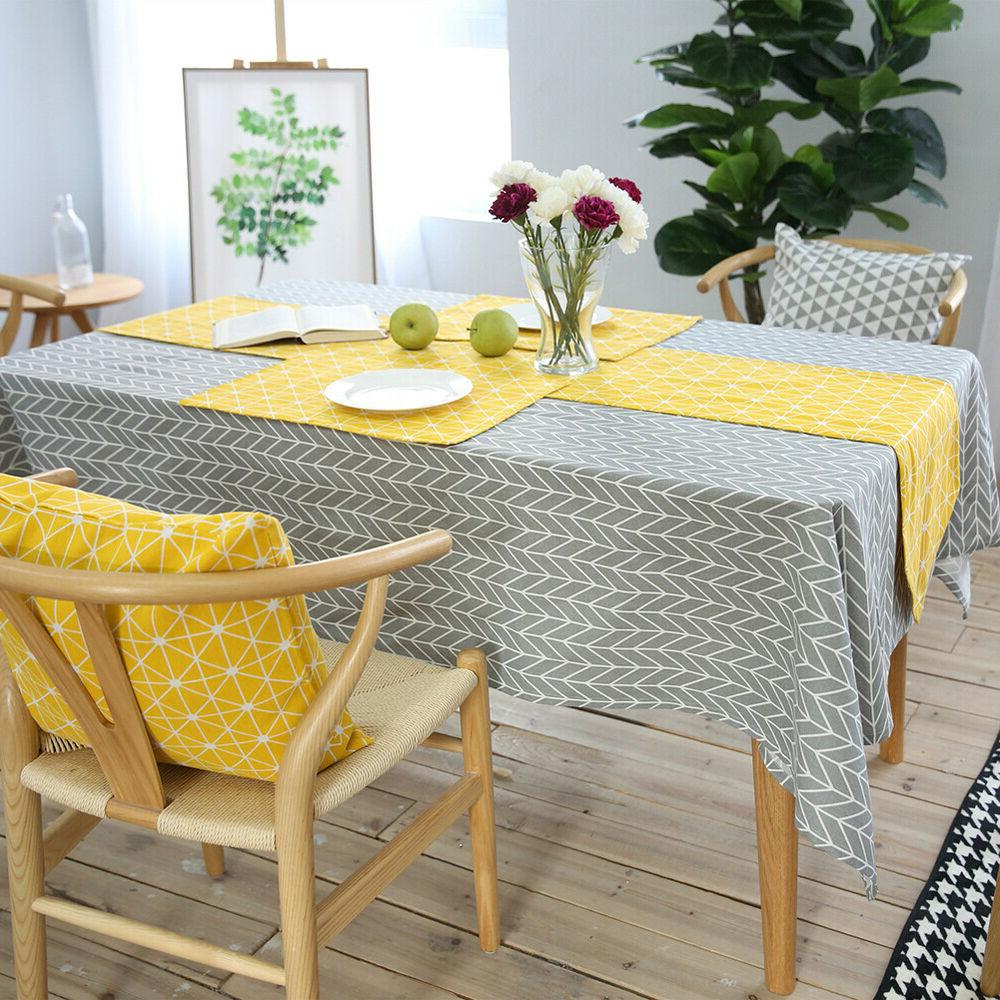 Geometry Teak Cloth Cotton Cover Party