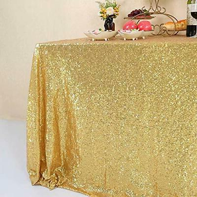 GFCC Gold Sequin Tablecloth Sparkly Party Wedding Banquet