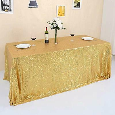 gold sequin tablecloth sparkly for party wedding