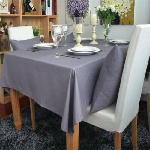 Gray Table Cloth Kitchen Tablecloth Table Home