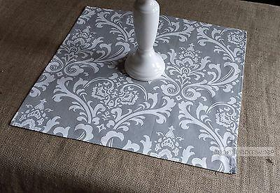 Gray Table Square Overlay Wedding Table Centerpiece Floral D