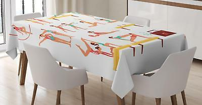 gymnastics tablecloth 3 sizes rectangular table cover
