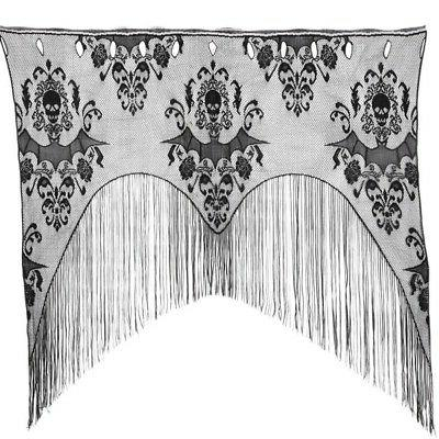 Halloween Haunted House Black Lace Web Tablecloth Table Clot