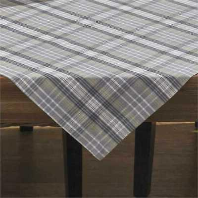 hartwick table cloth topper gray tan ivory