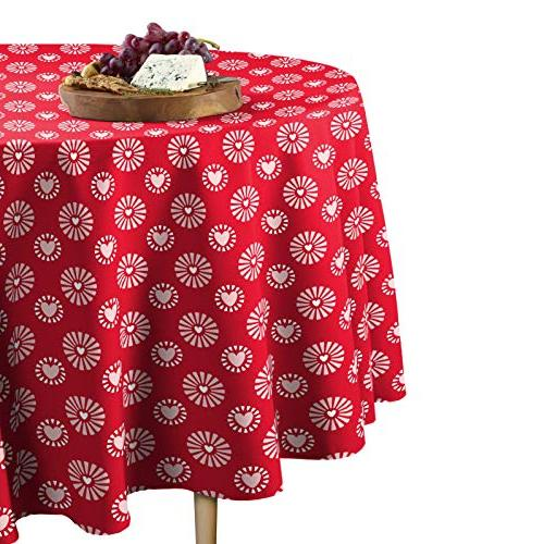 hearts bloom tablecloth round