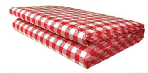 heavy duty checkered red vinyl picnic tablecloth