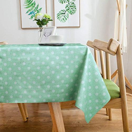 LEEVAN Rectangle Table Clean Tablecloth Stain-Resistant/Mildew-Proof