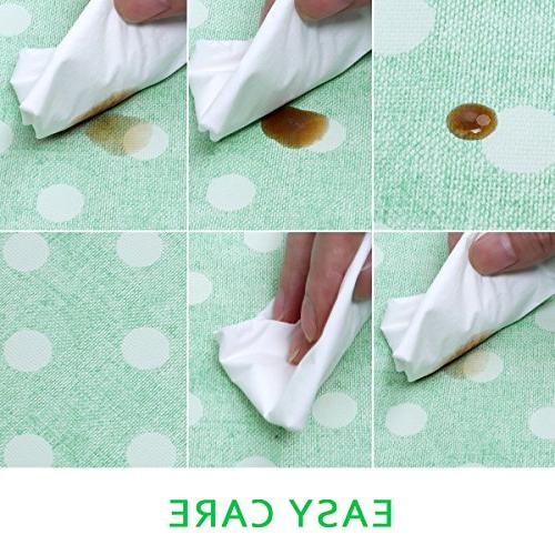 Rectangle Table Cover Clean Tablecloth Stain-Resistant/Mildew-Proof