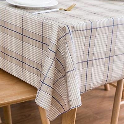 Heavy Weight Vinyl Rectangle Table Cover Wipe Clean PVC Tabl