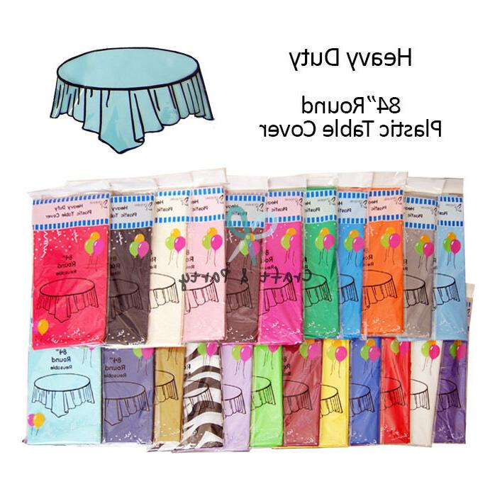 HeavyDuty Plastic Table Covers TABLECLOTH 22 colors and Size!!