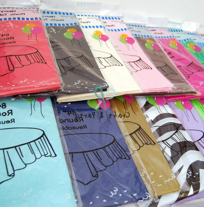 heavyduty plastic table covers tablecloth reusable in