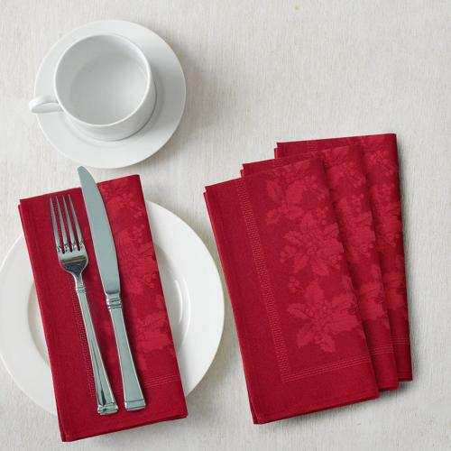 Benson Holiday Engineered Jacquard RED,