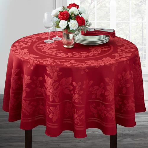 Benson Mills Elegance Engineered Tablecloth RED, 60""