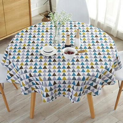 Table Cloth Printed Round for